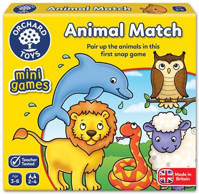 Animal Match Mini Game - Orchard Toys - educationaltoys.ie