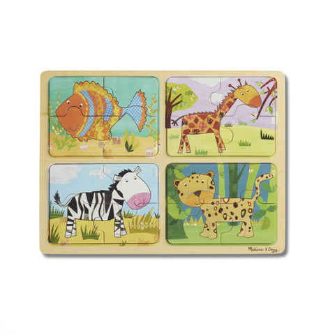 Animal Patterns Wooden Puzzles Set of 4 - educationaltoys.ie