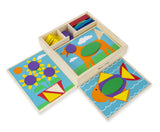 Melissa & Doug Beginner pattern blocks - educationaltoys.ie