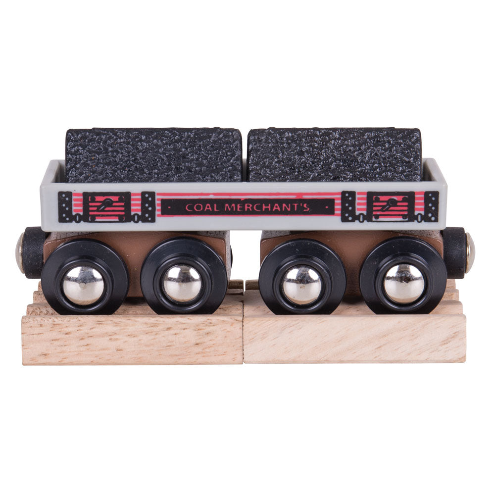 Big Coal Wagon BJT408 + 2 mini track pieces - educationaltoys.ie