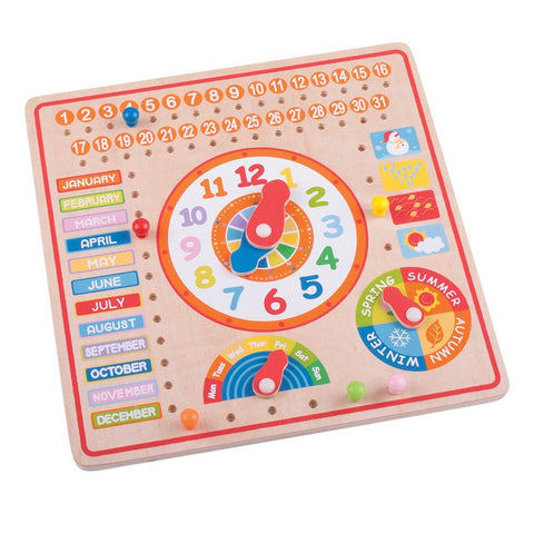 Bigjigs Calendar & Clock BJ526 - educationaltoys.ie