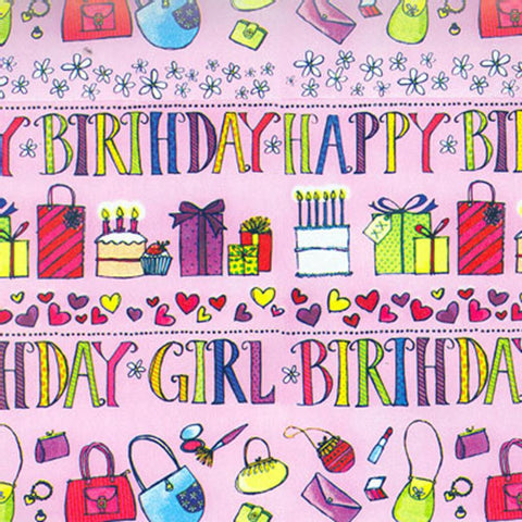 Birthday Gift Wrap & Card - Girl