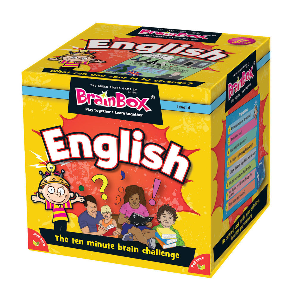 Brainbox English Memory Game - educationaltoys.ie