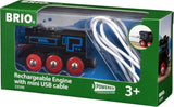 BRIO  33599 Rechargeable battery engine USB cable - educationaltoys.ie