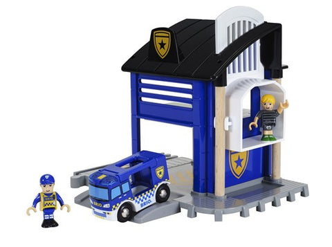 BRIO 33813 Police Station - wooden railway - educationaltoys.ie