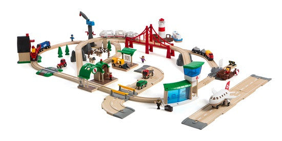 Brio Railway World Deluxe Set BRIO 33766 - educationaltoys.ie
