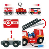 BRIO Rescue Firefighting train 33844 - educationaltoys.ie