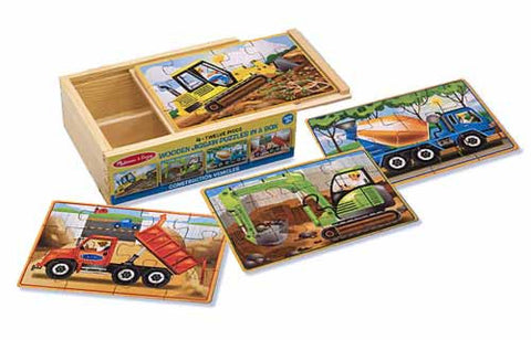Melissa & Doug Construction puzzles in box - Educationaltoys.ie