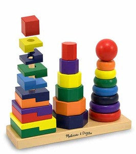 Wooden Geometric Stacker - educationaltoys.ie