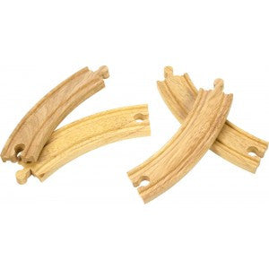 Wooden Track 4 Long Curves - educationaltoys.ie