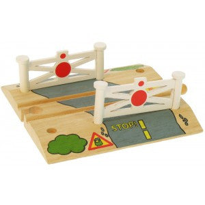 Level Crossing BJT118 - wooden track - educationaltoys.ie