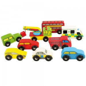 Bigjigs Vehicle Pack  BJT060 - Educationaltoys.ie