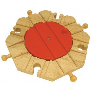 Eight Way Turntable - wooden track - educationaltoys.ie