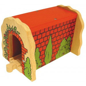 Bigjigs Red Brick Tunnel BJT135 - Educationaltoys.ie