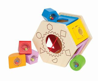 Hape Shake Match Shape Sorter - First Wooden Toys - Educationaltoys.ie