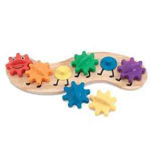 Rainbow Caterpillar Gear Toy - educationaltoys.ie