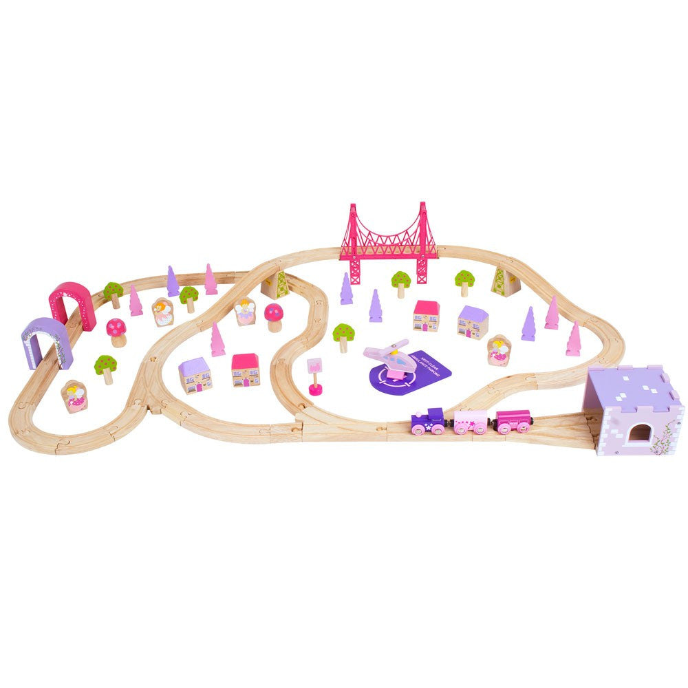 Fairy Town Wooden Train Set BJT023
