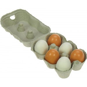 Bigjigs Wooden Eggs - Educationaltoys.ie