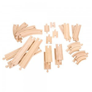 Straights & Curves Pack BJT057 - wooden track - educationaltoys.ie