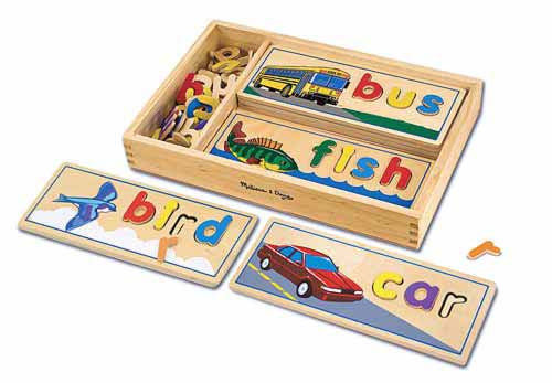 See & Spell Wooden word game - educationaltoys.ie