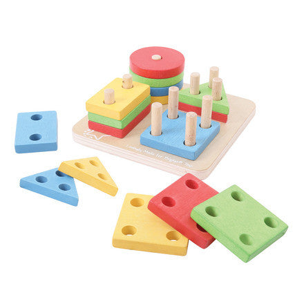 Bigjigs Four Shape Sorter BB094 - Educationaltoys.ie
