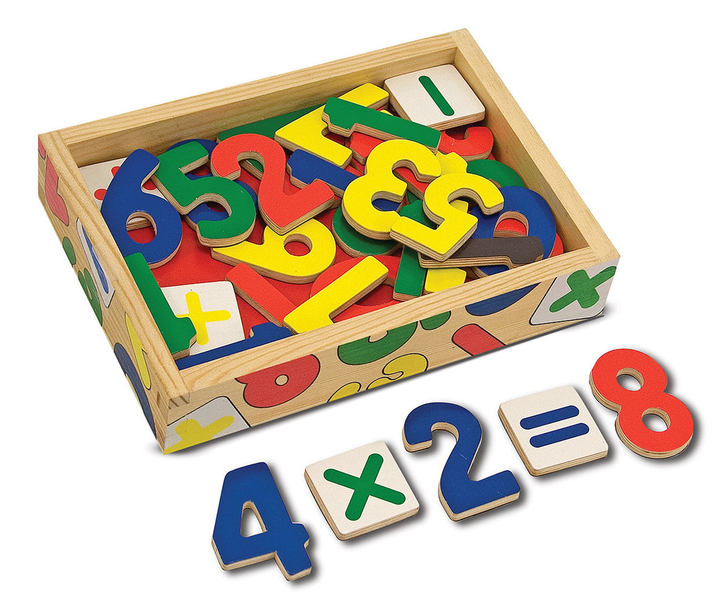 Magnetic Wooden Numbers M&D - educationaltoys.ie