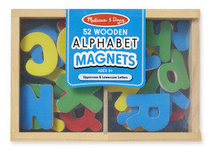 Melissa & Doug Wooden Alphabet Magnets - educationaltoys.ie