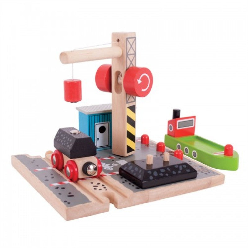 Bigjigs Coal Canal Docks - educationaltoys.ie