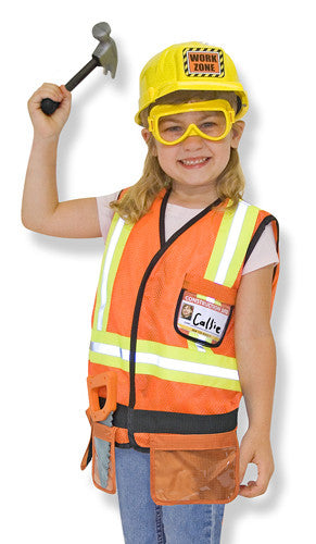 Construction worker Role Play Costume - educationaltoys.ie