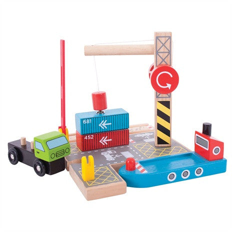 Container Shipping Yard BJT254 - educationaltoys.ie