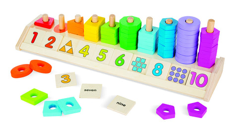 Melissa & Doug Counting Shape Stacker _ Educationaltoys.ie