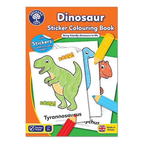 Dinosaur Sticker Colouring Book - educationaltoys.ie