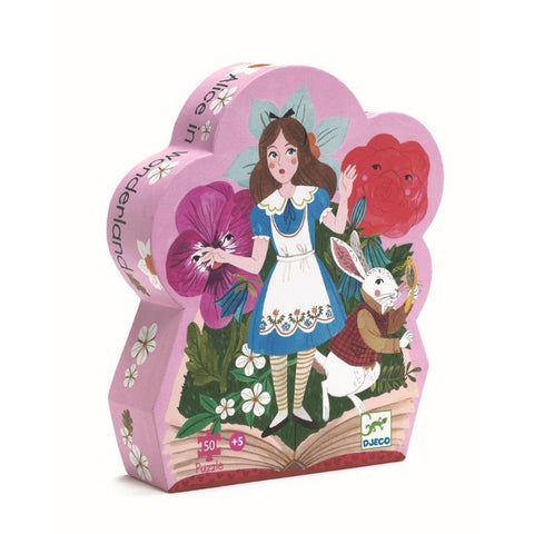 Djeco Silhouette Puzzle Alice In Wonderland 50 pce - educationaltoys.ie