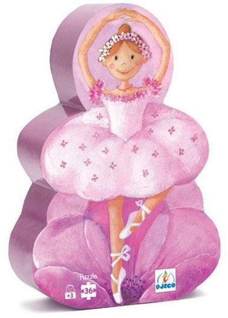 Djeco Silhouette Puzzle Ballerina 36 pce - educationaltoys.ie