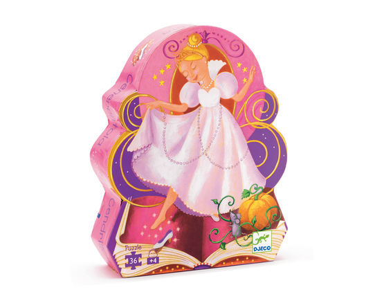 Djeco Silhouette Puzzle Cindrella 36 pces - educationaltoys.ie