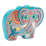 Djeco Haathee Asian Elephant Silhouette Puzzle 24pce - educationaltoys.ie