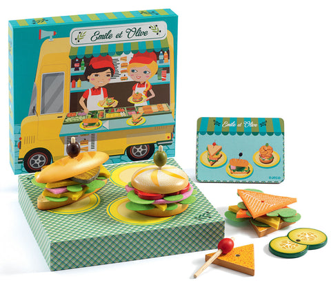 Djeco Emile & Olive Make Sandwiches - educationaltoys.ie