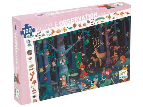 Djeco Enchanted Forest Observation Puzzle 100 pce - educationaltoys.ie