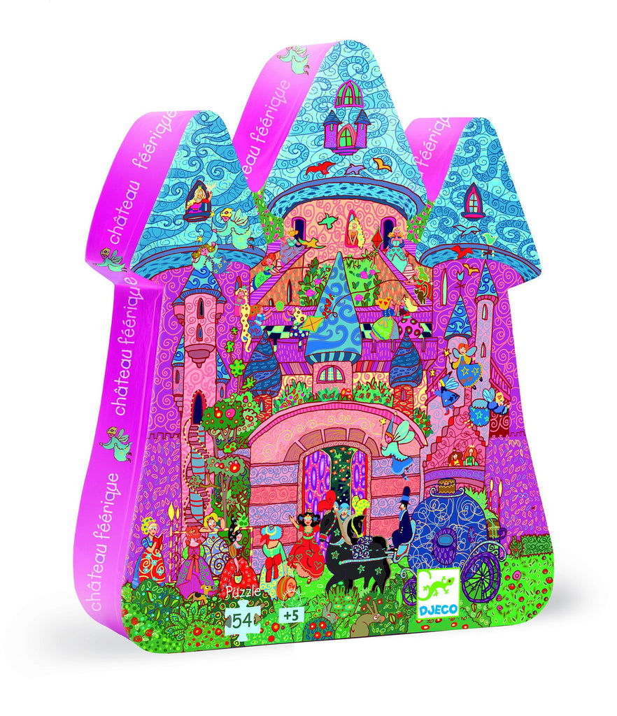 Djeco Silhouette Puzzle Fairy Castle 54 pce - educationaltoys.ie