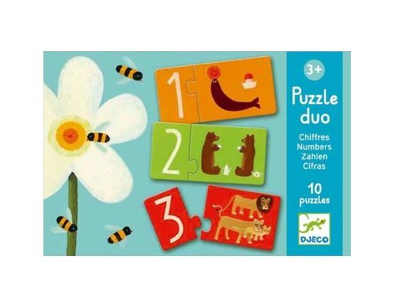 Djeco Puzzle Duo - Numbers Puzzle - educationaltoys.ie