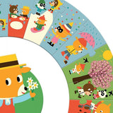 Djeco Giant Puzzle The Year - educationaltoys.ie