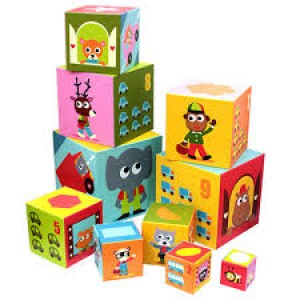 Djeco Numbers Transport Stacking Blocks DJ08508 - educationaltoys.ie