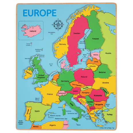 Europe Inset Puzzle BJ048 - educationaltoys.ie