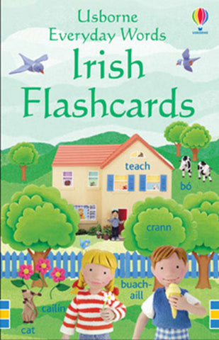 Usborne Everyday Words in Irish Flashcards - educationaltoys.ie