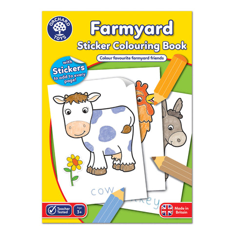 Farmyard Sticker Colouring Book - educationaltoys.ie