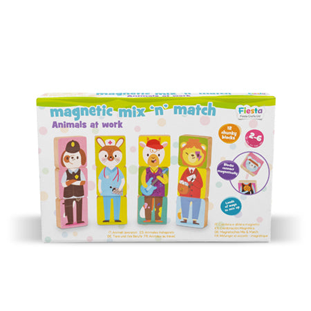 Fiesta Magnetic Mix & Match Animals - educationaltoys.ie