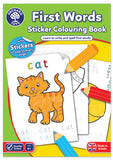 First Words Colouring Sticker Book - educationaltoys.ie