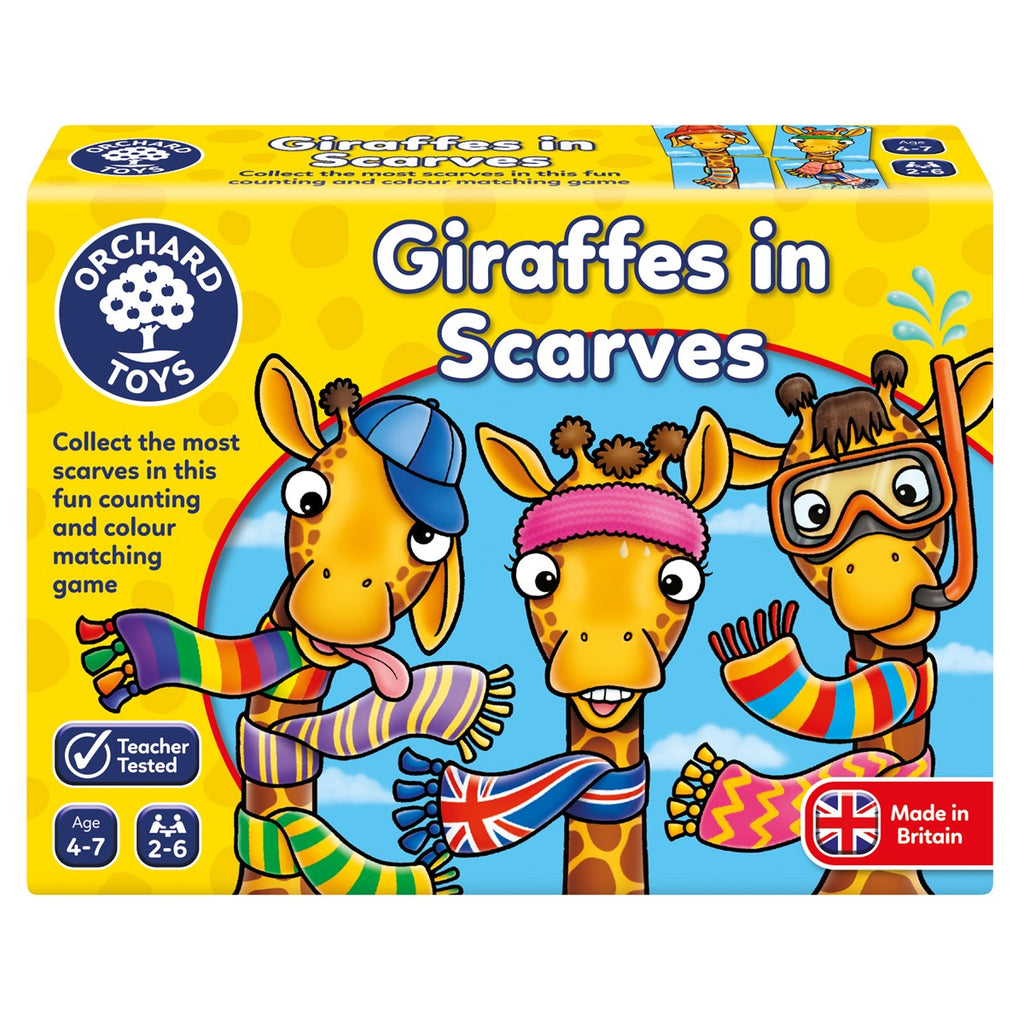 Orchard Toys Giraffes in Scarves - educationaltoys.ie