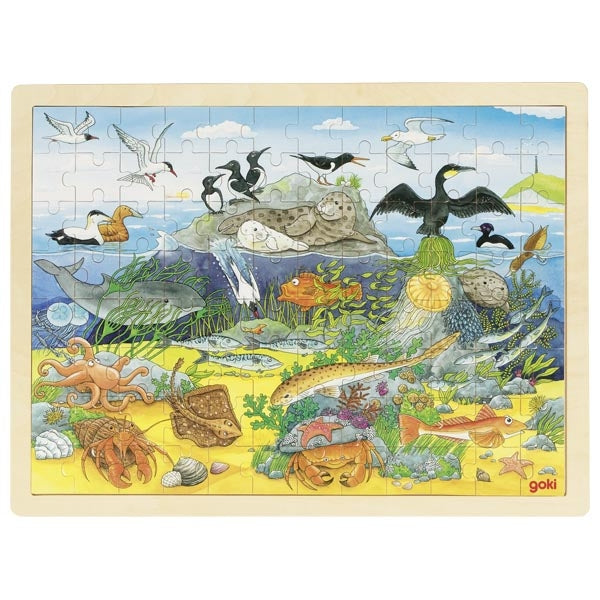 Goki Puzzle Over & Under Water 57703 - educationaltoys.ie