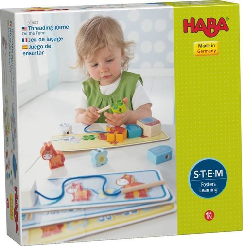 HABA On the Farm Threading Game 302613 - educationaltoys.ie